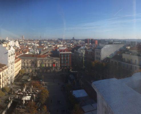 Blick auf Plaza Santa Ana