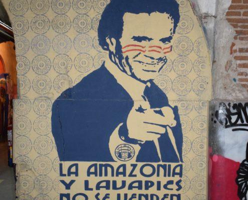 Street Art im Inneren der Tabakfabrik in Lavapiés in Madrid