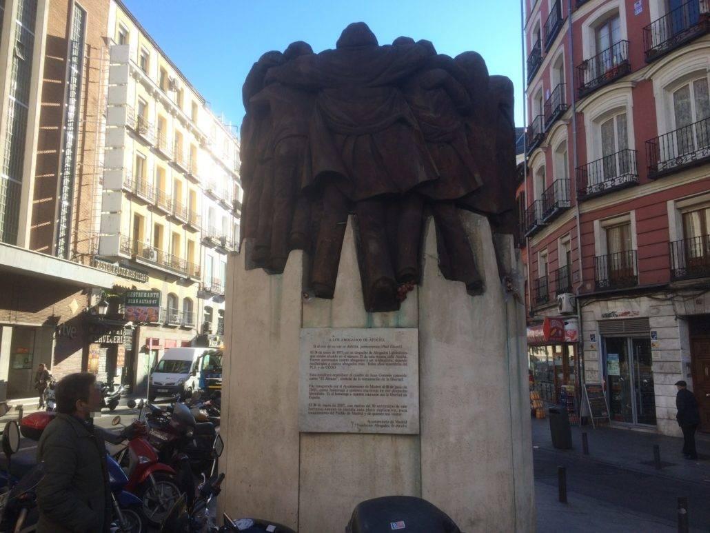 Denkmal ans Blutbad von Atocha 1977