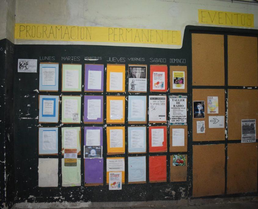 La Tabacalera - Organisation der Aktivitäten