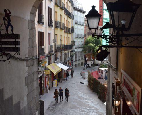 Blick von der Plaza Mayor zur Zalle Toledo