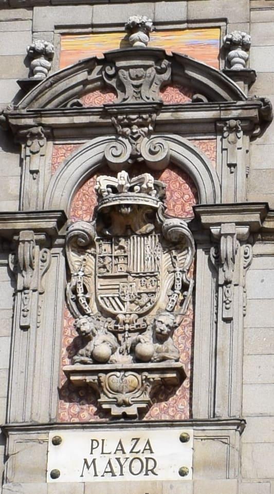Wappen an der Casa de la Panadería