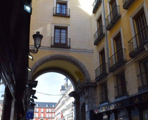Zugang zur Plaza Mayor Calle de la Sal