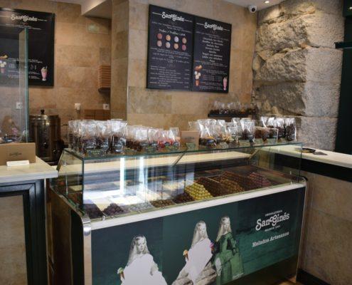 Chocolatería San Ginés -Verkaufstheke
