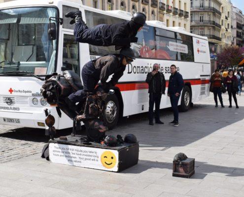 Straßenkünstler 2 auf dem Platz Puerta del Sol