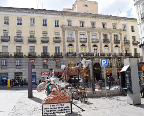 Straßenkünstler 3 auf dem Platz Puerta del Sol