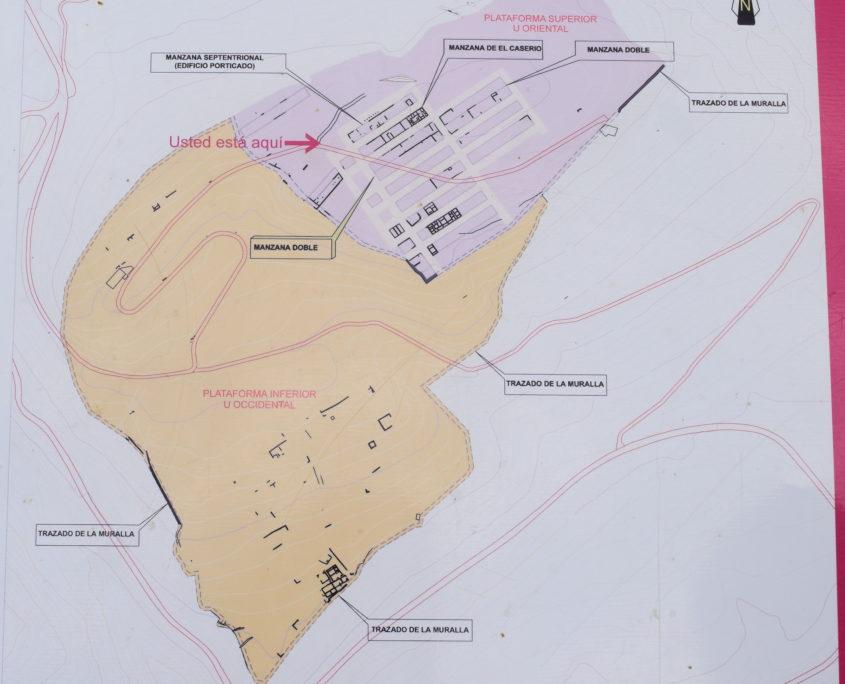 Informationstafel Aufteilung Plateaus