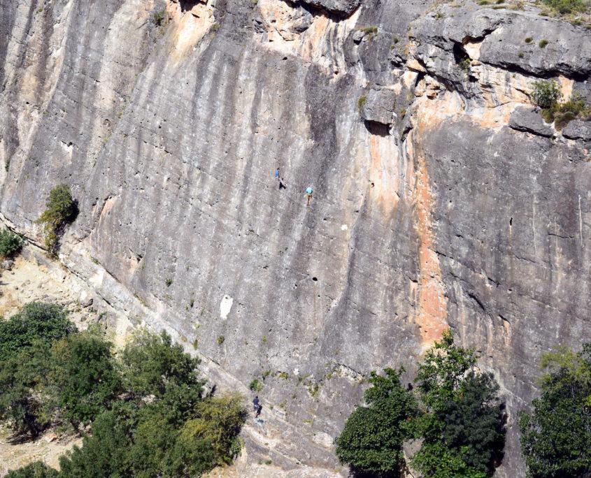 Kletterwand am Pontón de la Oliva