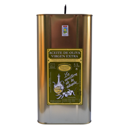 5 litre tin of Coupage organic cold-pressed extra virgin olive oil