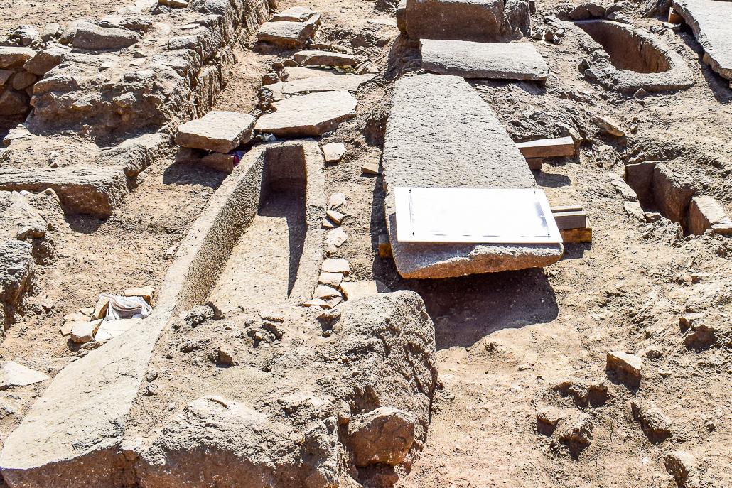 Sarkophag - Ausgrabungen El Rebollar, El Boalo