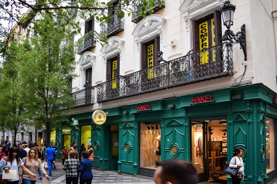 Das Einkaufszentrum in der Calle Arenal 8, in dem sich das Museum des Zahnmäuschens Pérez befindet