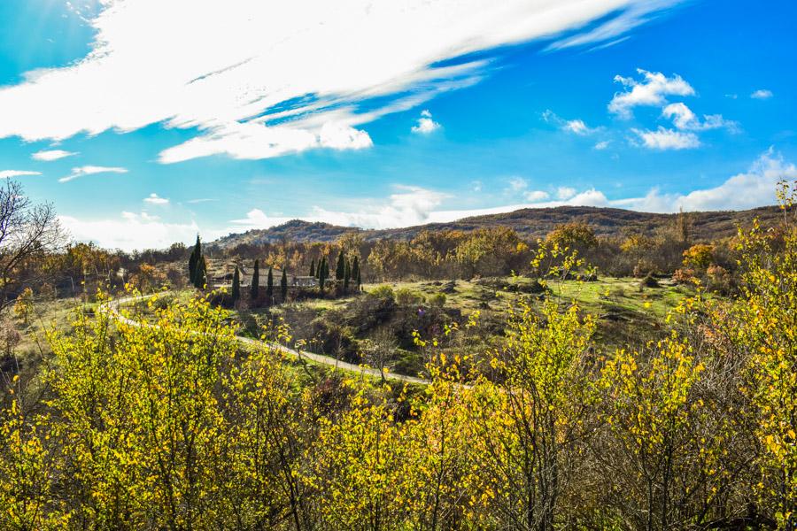 Landschaft um Horcajuelo de la Sierra