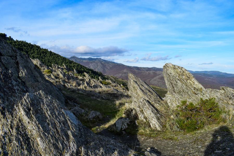 Auf dem Pass von Hiruela, mitten in der Biosphäre Sierra del Rincón