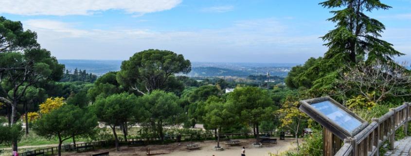 Blick über den Park Dehesa de la Villa