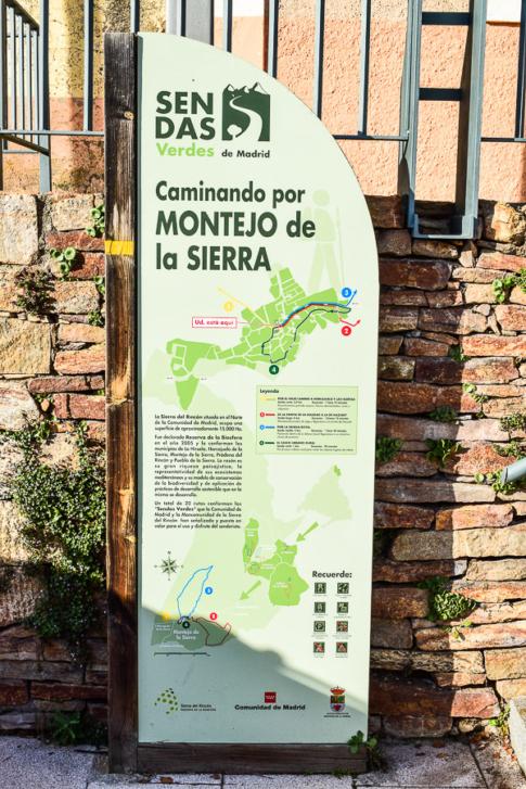Ausschilderung der Wanderwege um Montejo de la Sierra