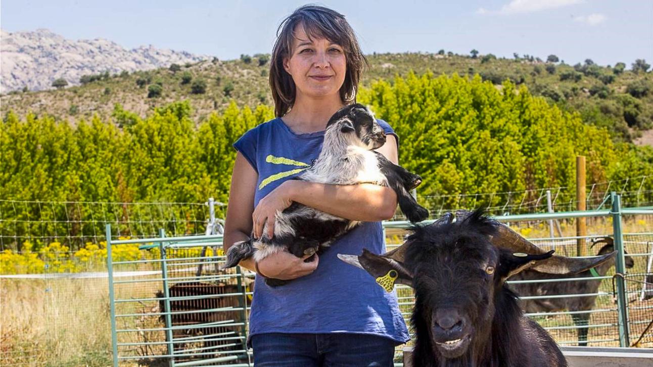 Madrid 27-07-2017 Entrevista Contraportada a Maria Jesus  dedicada a hacer Quesos artesanales en El Boalo junto a Cerceda en la Sierra de Madrid  Imagen Juan Manuel Prats