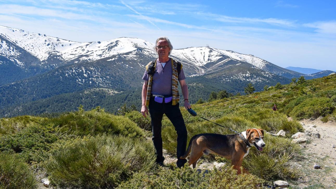 Heinz Rudolf beim Aufstieg zu Peñalara