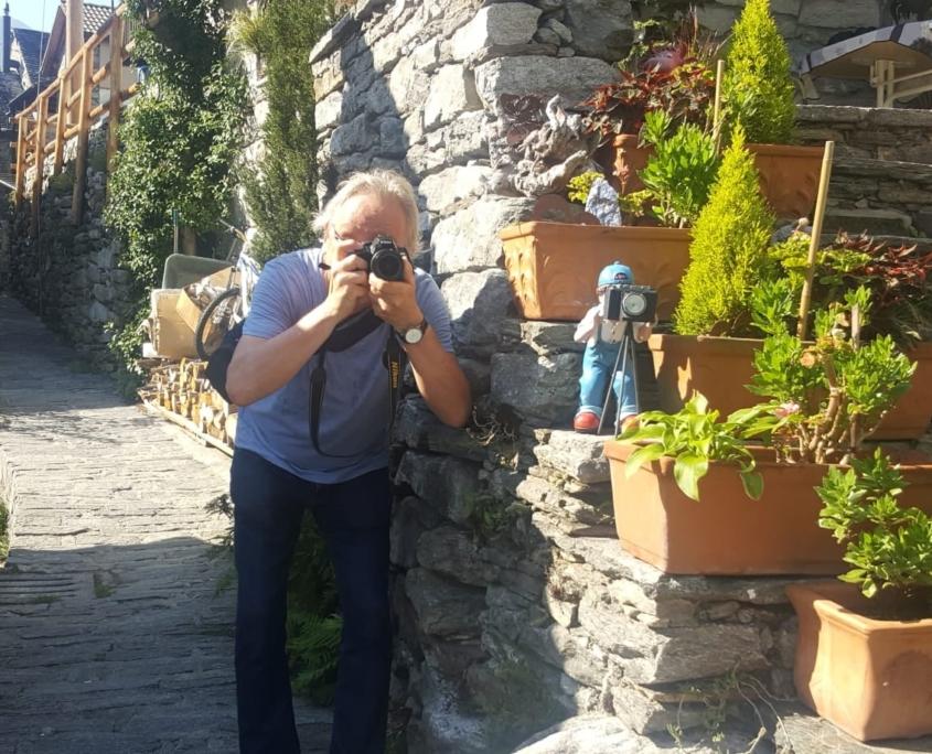 Heinz Rudolf beim Fotografieren